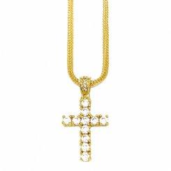 Golden Gilt / Design by TSS ゴールデンギルト ミニクロス ネックレス ゴールド