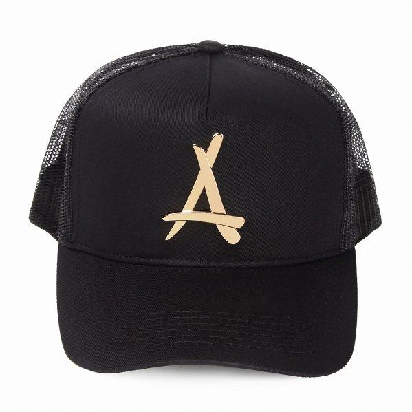 "Tha Alumni Clothing ロゴ メッシュキャップ ブラック ""24K BLACK MESH TRUCKER HAT"""