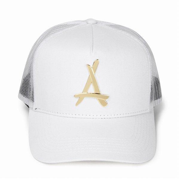 """Tha Alumni Clothing ロゴ メッシュキャップ ホワイト """"24K WHITE MESH TRUCKER HAT"""""""