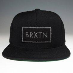 Brixton ブリクストンロゴ スナップバック キャップ ブラック×グレーロゴ