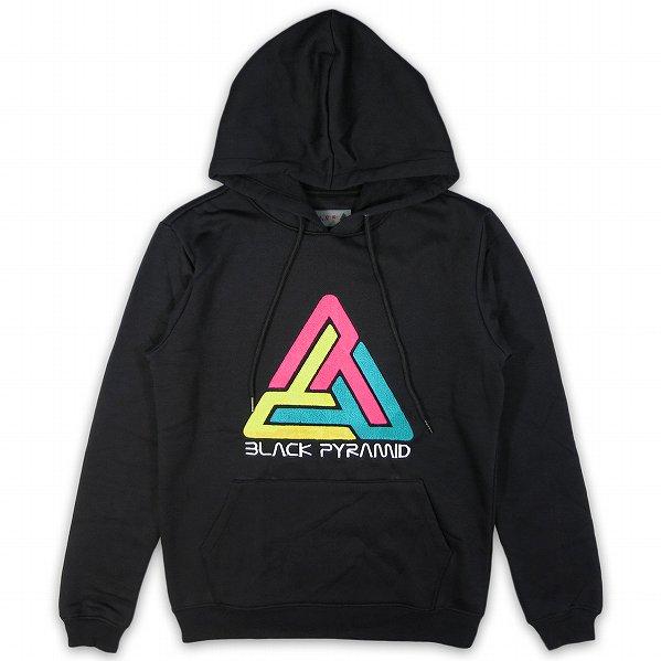 "Black Pyramid ブラックピラミッド ロゴ スウェットパーカー ブラック ""Pyramid 2.0 Logo LS Hoodie&quo…"