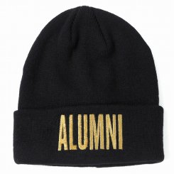 <img class='new_mark_img1' src='https://img.shop-pro.jp/img/new/icons20.gif' style='border:none;display:inline;margin:0px;padding:0px;width:auto;' />Tha Alumni Clothing アルムナイ ロゴ ニットキャップ ブラック×ゴールドロゴ