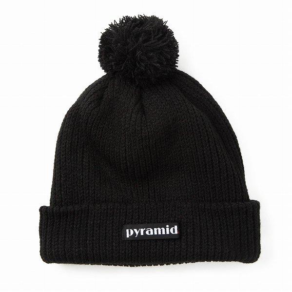 """Black Pyramid ブラックピラミッド ロゴ ニットキャップ ブラック """"Clean Logo Skully"""""""