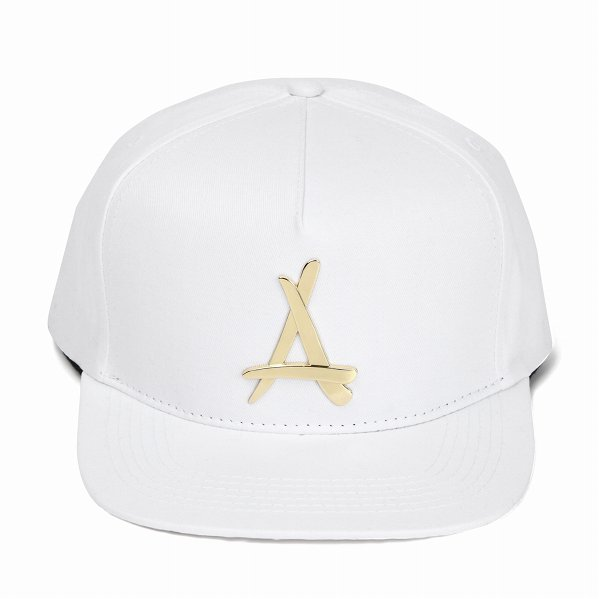 "Tha Alumni Clothing アルムナイ スナップバックキャップ ホワイト×ゴールドロゴ ""24K SNAPBACK (WHITE)&quo…"