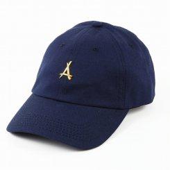 Tha Alumni Clothing アルムナイ ロゴ 6パネル ストラップバックキャップ ネイビー
