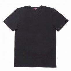 City Lab シティラブ 半袖 無地 Vネック Tシャツ ブラック