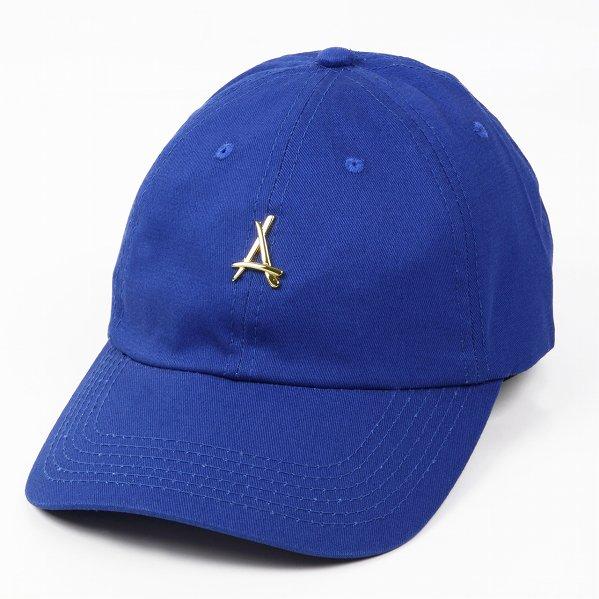 "Tha Alumni Clothing アルムナイ ロゴ 6パネル ストラップバックキャップ ロイヤルブルー ""24K ROYAL DAD HAT"""