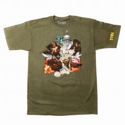 Yung Rich Nation ヤングリッチネーション 半袖 ロゴTシャツ オリーブ