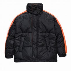 FNTY フライングナインティ サイドライン ダウンジャケット ブラック×オレンジ