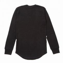 EPTM エピトミ サイドジップ ロング丈 長袖 サーマルTシャツ ブラック