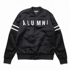 <img class='new_mark_img1' src='https://img.shop-pro.jp/img/new/icons15.gif' style='border:none;display:inline;margin:0px;padding:0px;width:auto;' />Tha Alumni Clothing アルムナイ ロゴ ベースボールジャケット ブラック
