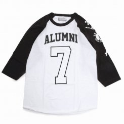 <img class='new_mark_img1' src='https://img.shop-pro.jp/img/new/icons15.gif' style='border:none;display:inline;margin:0px;padding:0px;width:auto;' />Tha Alumni Clothing アルムナイ ロゴ ラグランTシャツ ホワイト×ブラック