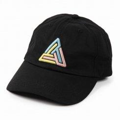 ブラックピラミッド Black Pyramid ロゴ 6パネル ストラップバックキャップ ブラック