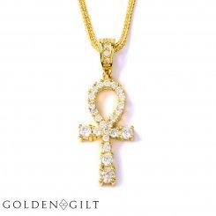 GOLDEN GILT / Design by TSS ゴールデンギルト ミディアムサイズ アンク ネックレス ゴールド