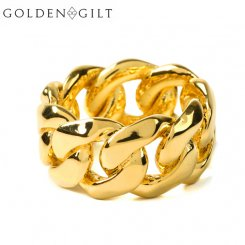 Golden Gilt / Design by TSS ゴールデンギルト キューバンリンク リング ゴールド