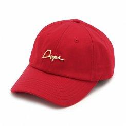 Dope ドープ ロゴ 6パネル ストラップバックキャップ レッド