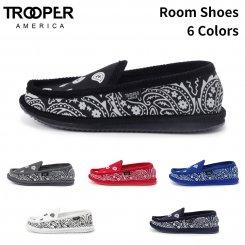 Trooper America トゥルーパーアメリカ スリッポン ルームシューズ ペイスリープリント Imprinted House Slippers