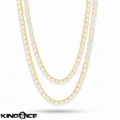 <img class='new_mark_img1' src='https://img.shop-pro.jp/img/new/icons15.gif' style='border:none;display:inline;margin:0px;padding:0px;width:auto;' />King Ice キングアイス ネックレス ゴールド テニスチェーン セット