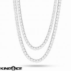 King Ice キングアイス ネックレス ホワイトゴールド テニスチェーン セット
