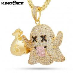King Ice キングアイス ネックレス ゴールド ゴーストモチーフ