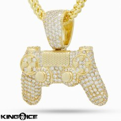 <img class='new_mark_img1' src='https://img.shop-pro.jp/img/new/icons15.gif' style='border:none;display:inline;margin:0px;padding:0px;width:auto;' />King Ice×PlayStation キングアイス プレイステーション ネックレス ゴールド