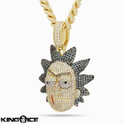 King Ice×Rick and Morty キングアイス×リックアンドモーティー ネックレス ゴールド