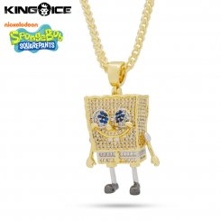 <img class='new_mark_img1' src='https://img.shop-pro.jp/img/new/icons55.gif' style='border:none;display:inline;margin:0px;padding:0px;width:auto;' />King Ice×SpongeBob SquarePants キングアイス スポンジ・ボブ ネックレス ゴールド