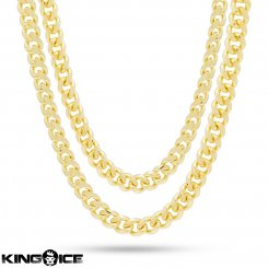 King Ice キングアイス ネックレス ゴールド マイアミキューバンチェーン セット