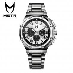 MSTR WATCHES マイスターウォッチ メンズ 腕時計 シルバー ステンレススティールバンド