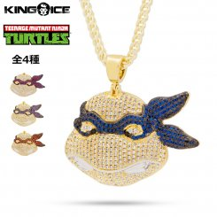 <img class='new_mark_img1' src='https://img.shop-pro.jp/img/new/icons15.gif' style='border:none;display:inline;margin:0px;padding:0px;width:auto;' />King Ice×TMNT キングアイス  ティーンエイジ・ミュータント・ニンジャ・タートルズ ネックレス ゴールド
