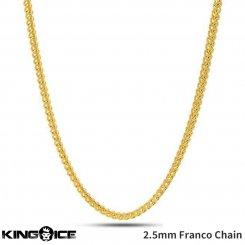 King Ice キングアイス ネックレス ゴールド フランコチェーン