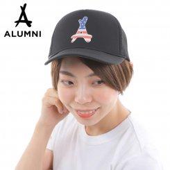 Tha Alumni Clothing アルムナイ アラムナイ ロゴ メッシュキャップ カーブバイザー ブラック