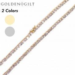 Golden Gilt / Design by TSS ゴールデンギルト テニスチェーン ネックレス ゴールド