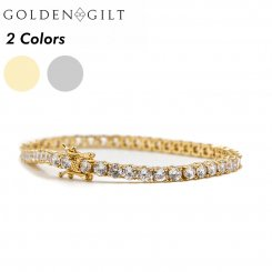 Golden Gilt / Design by TSS ゴールデンギルト テニスチェーン ブレスレット ゴールド シルバー