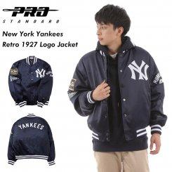 Pro Standard プロスタンダード ヤンキース ポリエステル スタジアムジャケット ネイビー New York Yankees Retro 1927 Logo Jacket