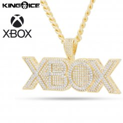 <img class='new_mark_img1' src='https://img.shop-pro.jp/img/new/icons15.gif' style='border:none;display:inline;margin:0px;padding:0px;width:auto;' />King Ice×Xbox キングアイス エックスボックス ロゴ ネックレス ゴールド Xbox Necklace