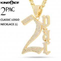 2PAC×King Ice キングアイス トゥーパック ロゴ ネックレス ゴールド 2PAC CLASSIC NECKLACE (L)
