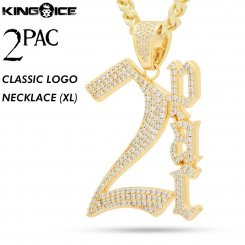 2PAC×King Ice キングアイス トゥーパック ロゴ ネックレス ゴールド 2PAC CLASSIC NECKLACE (XL)