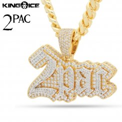 2PAC×King Ice キングアイス トゥーパック ロゴ ネックレス ゴールド 2PAC LOGO NECKLACE