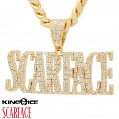 Scarface×King Ice キングアイス スカーフェイス ロゴ ネックレス ゴールド Scarface Logo Necklace