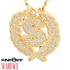 Scarface×King Ice キングアイス スカーフェイス ネックレス ゴールド Cash Empire Necklace