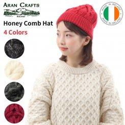 アランクラフト Aran Crafts ハニーカム柄 メリノウール ニットキャップ アイルランド製 Merino Hat