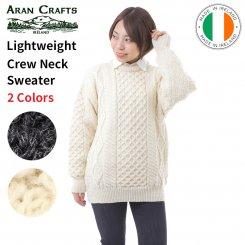 アランクラフト Aran Crafts クルーネックニット セーター 100%ウール アイルランド製 Lightweight Crew Neck Sweater