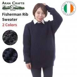 アランクラフト Aran Crafts クルーネックニット フィッシャーマンセーター 100%ウール アイルランド製 Fisherman Rib Sweater