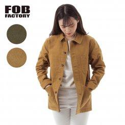 FOB FACTORY エフオービーファクトリー モールスキン ワークジャケット 日本製 F2373 FRENCH MOLESKIN JK