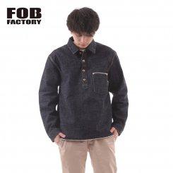 FOB FACTORY エフオービーファクトリー デニムワークジャケット 日本製 F2384 G-3 DENIM P/O JK WA