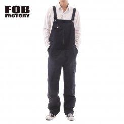 FOB FACTORY エフオービーファクトリー リラックスフィット デニムオーバーオール 日本製 F0479 DENIM OVER-ALL WA