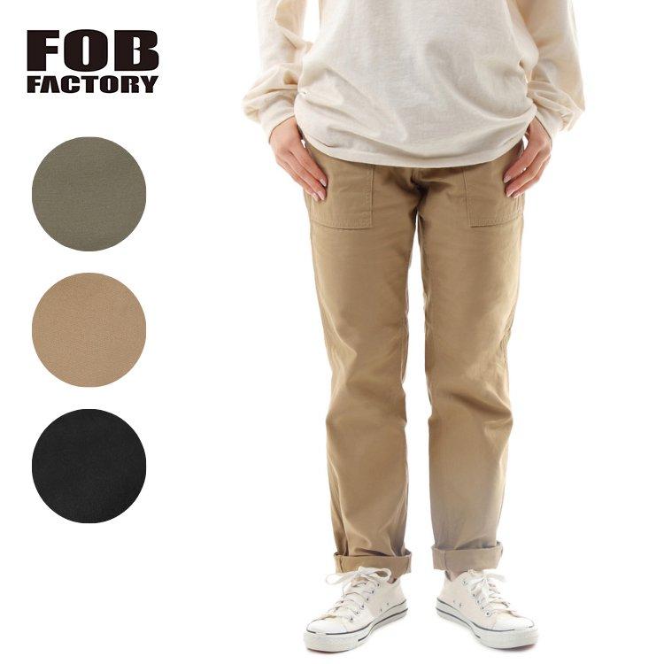 FOB FACTORY エフオービーファクトリー バックサテン ベイカーパンツ 日本製 F0431 BAKER PANTS