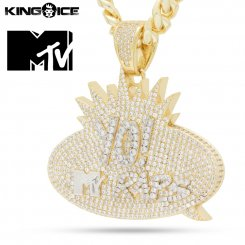<img class='new_mark_img1' src='https://img.shop-pro.jp/img/new/icons15.gif' style='border:none;display:inline;margin:0px;padding:0px;width:auto;' />MTV x King Ice キングアイス エムティービー ラップス ロゴ ネックレス ゴールド Yo! MTV Raps Necklace