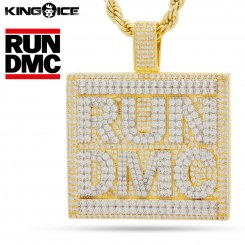 <img class='new_mark_img1' src='https://img.shop-pro.jp/img/new/icons15.gif' style='border:none;display:inline;margin:0px;padding:0px;width:auto;' />RUN DMC x King Ice キングアイス ランディーエムシー ロゴ ネックレス ゴールド CLASSIC LOGO NECKLACE